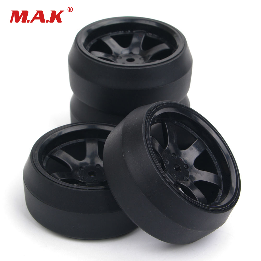 4pcs/set 12mm Hex 0 degree <font><b>RC</b></font> <font><b>Drift</b></font> Tires <font><b>Wheels</b></font> and Rims Fit HPI 1:10 <font><b>RC</b></font> Car Parts image