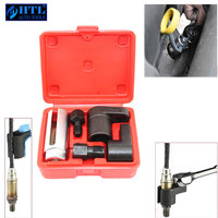 5pcs Oxygen Sensor Socket Wrench Thread Chaser Tool Kit Fit for All Auto O2 Socket Removal Installation Install Offset Vacuum