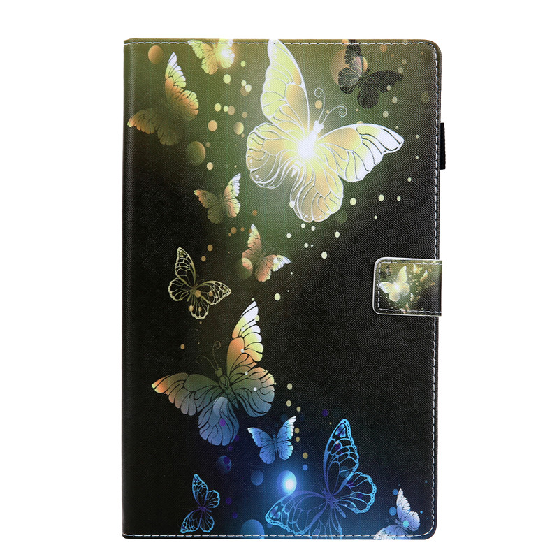 For Amazon Kindle <font><b>Fire</b></font> <font><b>HD</b></font> <font><b>10</b></font> 2017 Tablet <font><b>Case</b></font> Flip Cover Stand Wallet With Card slot Design pineapple Butterfly Unicorn Kitty image