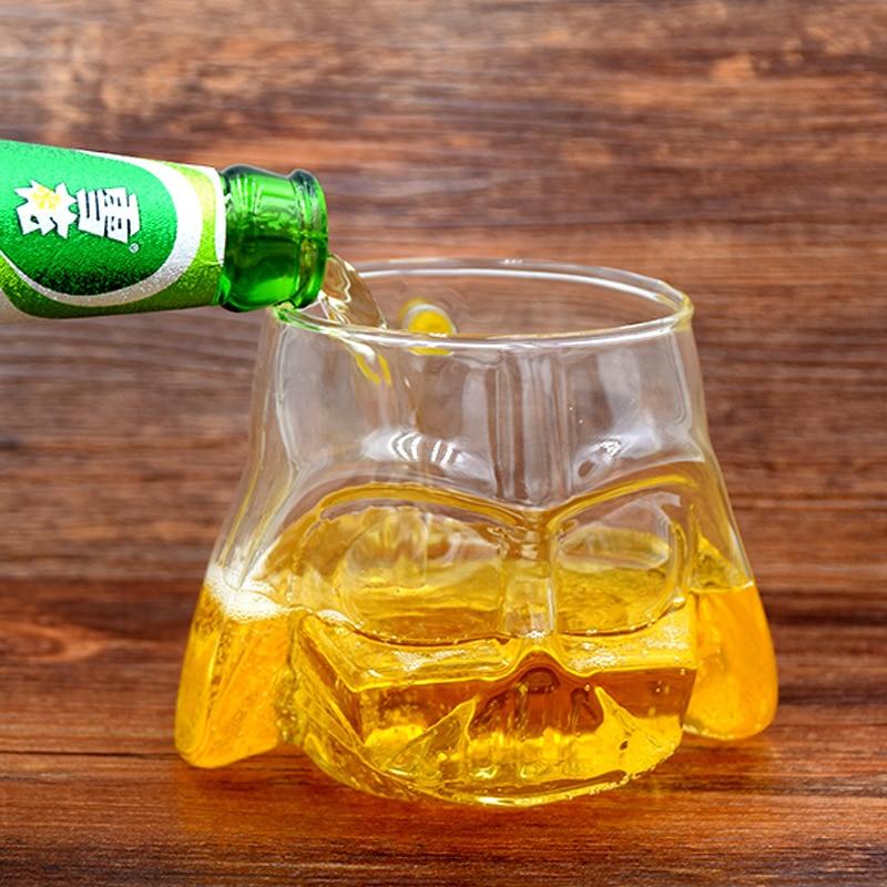 400ML Creative New Transparent Glass Star wars mug with handgrip glass cup Beer Mug birthday gift