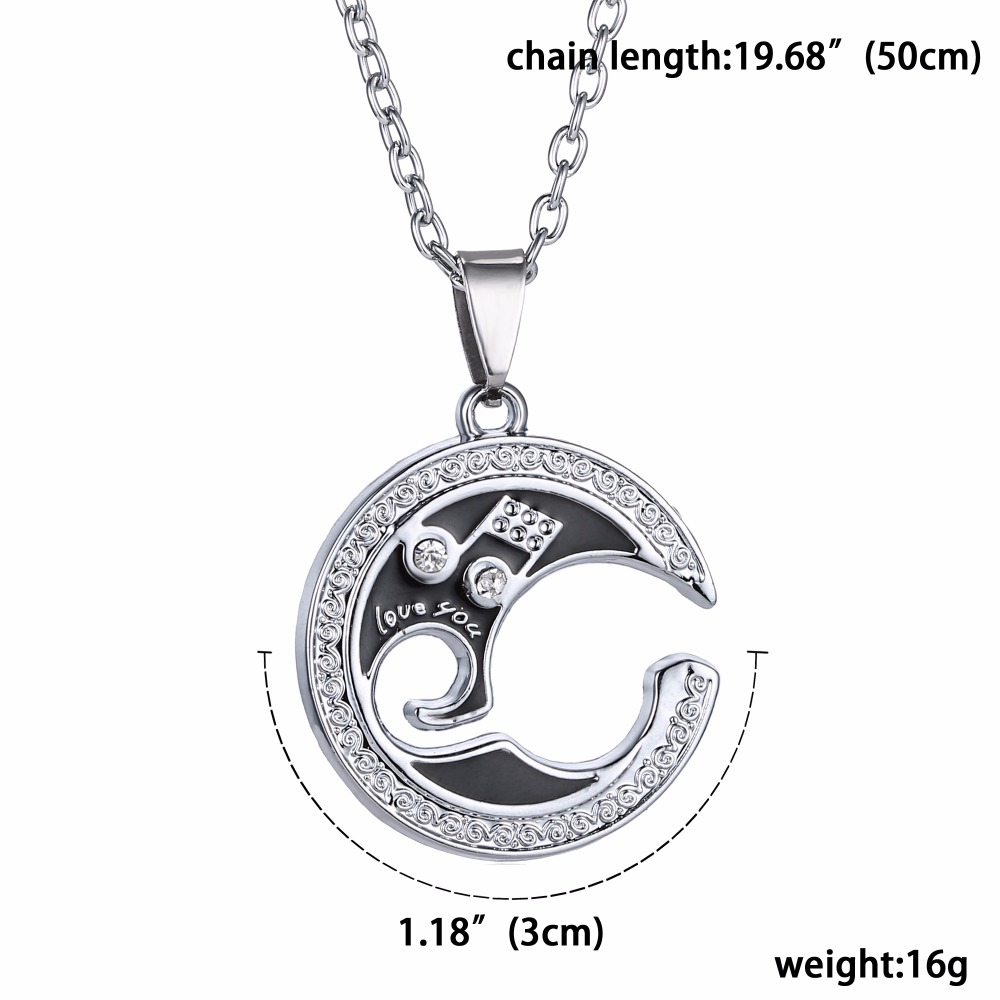 HTB1ADlDh4PI8KJjSspoq6x6MFXa0 - 2 pcs/pair Couple Necklace For Lover Girlfriend Gift Set Musical note Valentine's Day Necklace For Women Jewelry Paired Pendants
