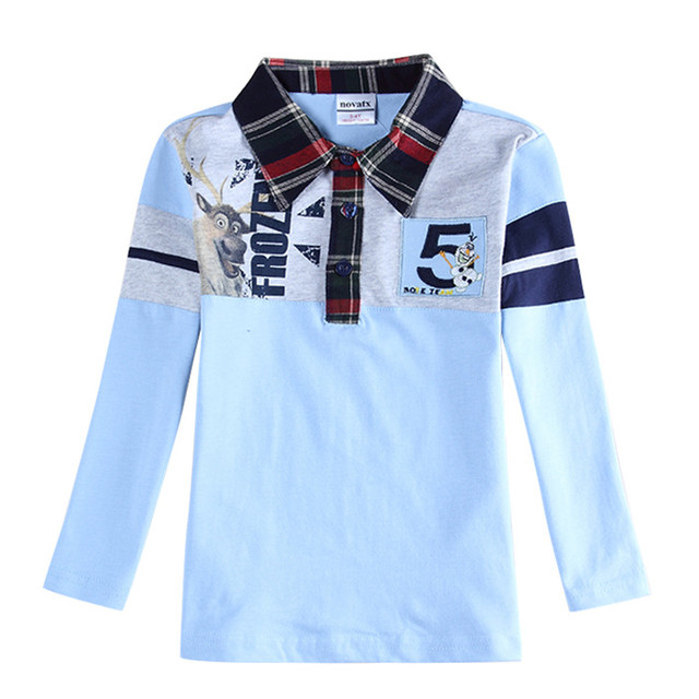 Camiseta de la manera de moda muchachos de la manga larga camisetas niños ropa niños camisetas de marca desgaste de los niños de primavera/otoño enfant