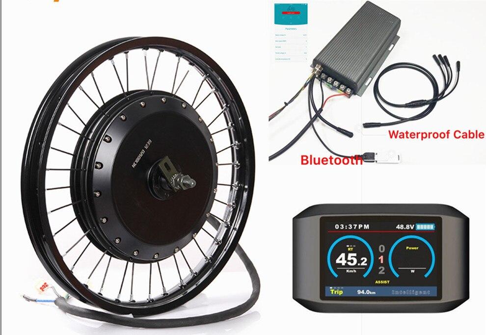 Bluetooth! bluetooth! 72v 8000w qs 273 kit de conversão do motor do cubo da bicicleta elétrica com tft display colorido