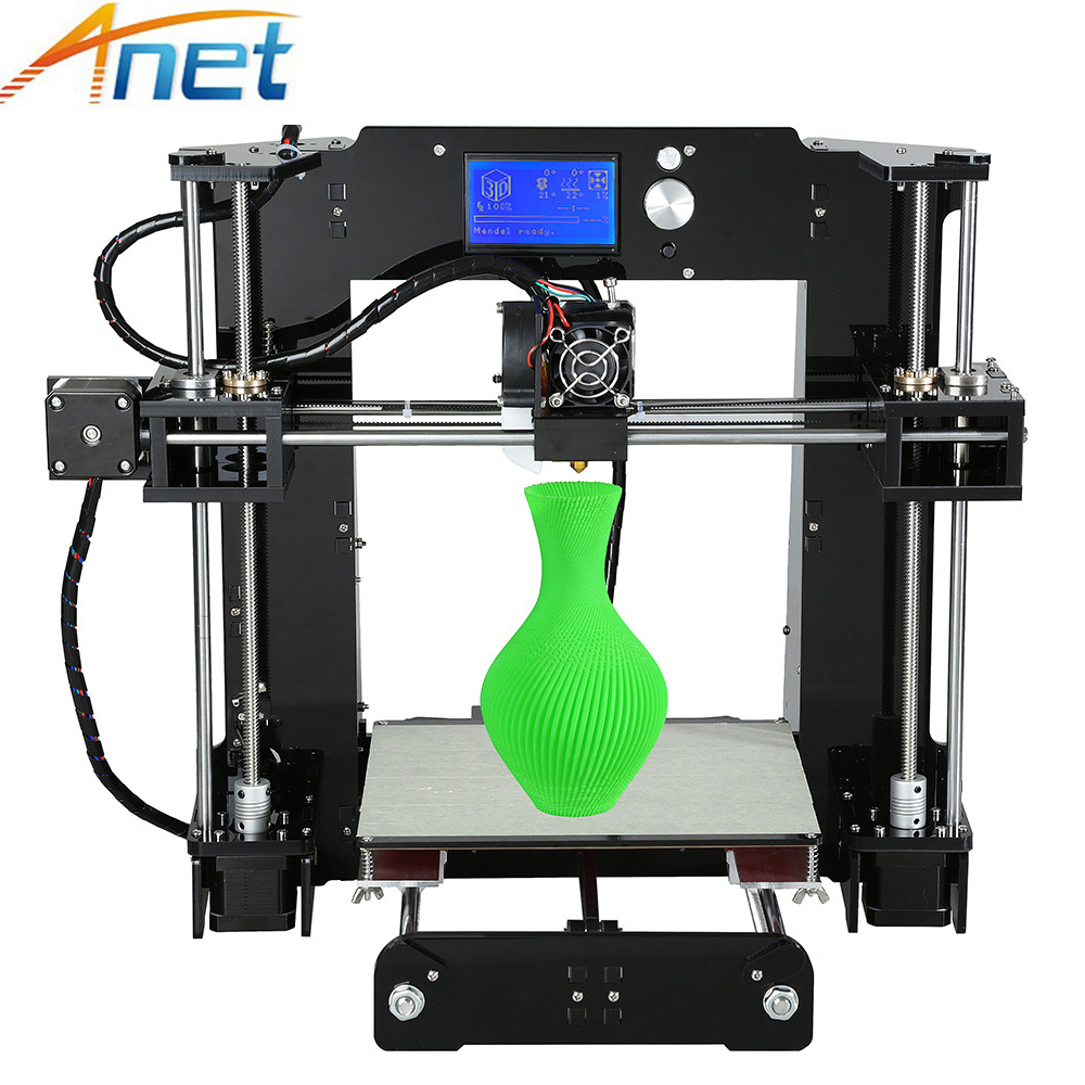Anet A8 A6 3D Printer Large Size Easy Assemble Auto Level A8 Normal Reprap i3 DIY 3D Printer Kit with Filament 8GB SD Card 2017 new anet easy assemble 3d printer upgrated reprap prusa i3 3d printer large print size kit diy with filament 16gb sd card