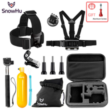 цена на SnowHu For Gopro Accessories for gopro accessories set For Go pro hero 8 7 6 5 4 action camera for eken h9 h9r accessories GS81