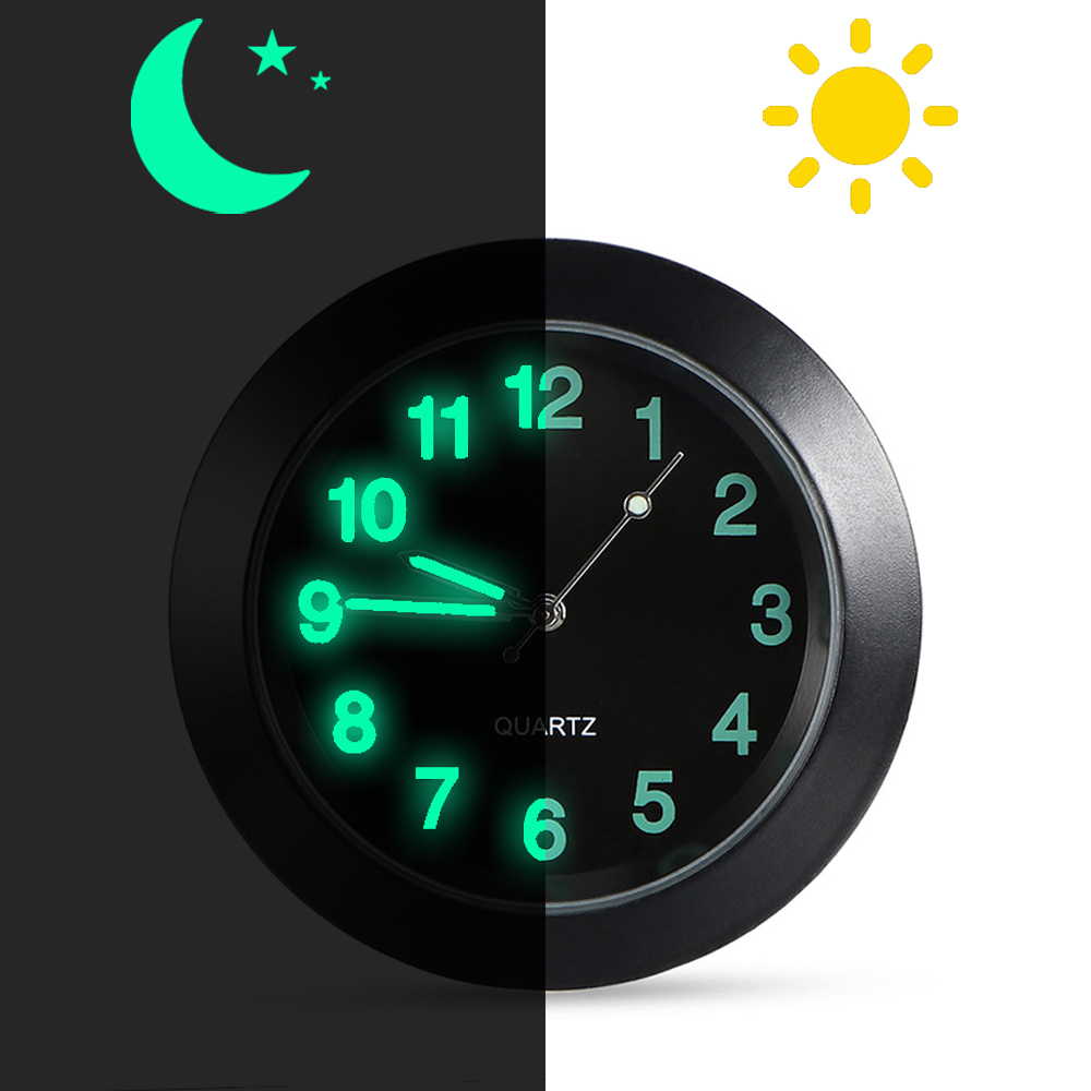TOOGOO 2-in-1 Auto Car Electronic Clock Luminous Thermometer Led Digital Display Mini Portable Dashboard Clock Car Accessories
