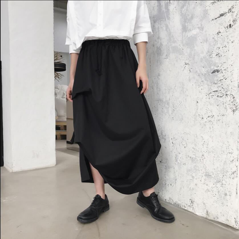 Early Autumn Model Show Men's New Three-dimensional Cut Irregular Design Elastic Waist Loose Nine Pants Skirts Stage Costumes