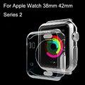 Para apple watch 38mm 42mm serie 2 caso ultrafino de la cubierta protectora casos de golpes cáscara protectora de la piel con la caja al por menor