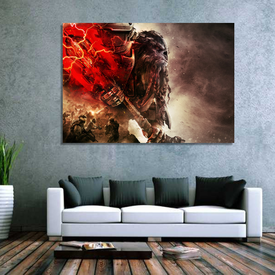 1 Piece Canvas Art Canvas Painting Halo Wars 2 Xbox One Hd Printed