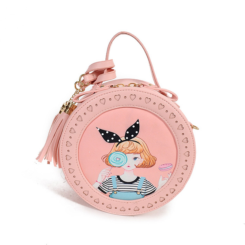 Fashion Korean Version Young Ladies Shoulder Bags Cartoon PU Women Messenger Bag