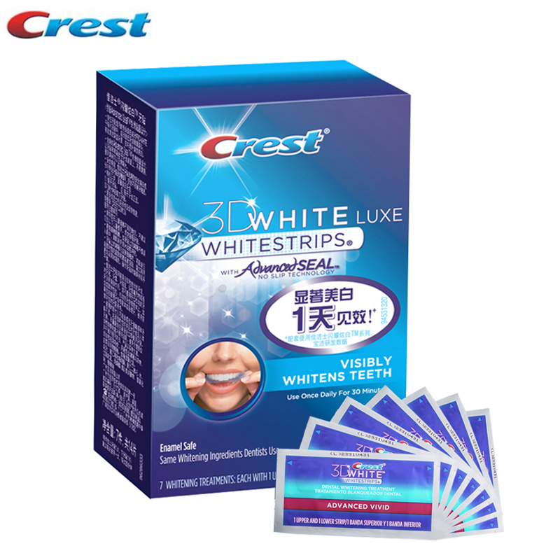 все цены на 3D White Teeth Whitening Strips Advanced Vivid Seal Whitestrips Oral Hygiene Visibly Dental Tooth Whitening Strip Dentist Using онлайн