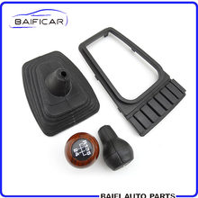 Baificar Brand New 5 Speed Manual Stick Gear Shift Knob Lever Shifter Boot Cover 191 863 216 For V.W Square Head Jet.ta Golf MK2(China)