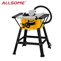 ALLSOME 1500W 8 Sliding Woodworking Table Saw 210mm DIY Woodworking Bench Circular Saw Electric Saw DIY Saw Cutting Tool