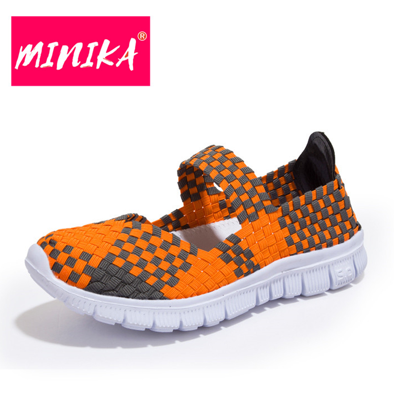 MINIKA New Arrival 2017 Women Casual Shoes Soft Platform Shoes Women Slip on Shallow Flat Shoes Women Large Size Shoes 35-42 minika new arrival 2017 casual shoes women multicolor optional comfortable women flat shoes fashion patchwork platform shoes