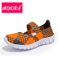 MINIKA New Arrival 2017 Women Casual Shoes Soft Platform Shoes Women Slip On Shallow Flat Shoes