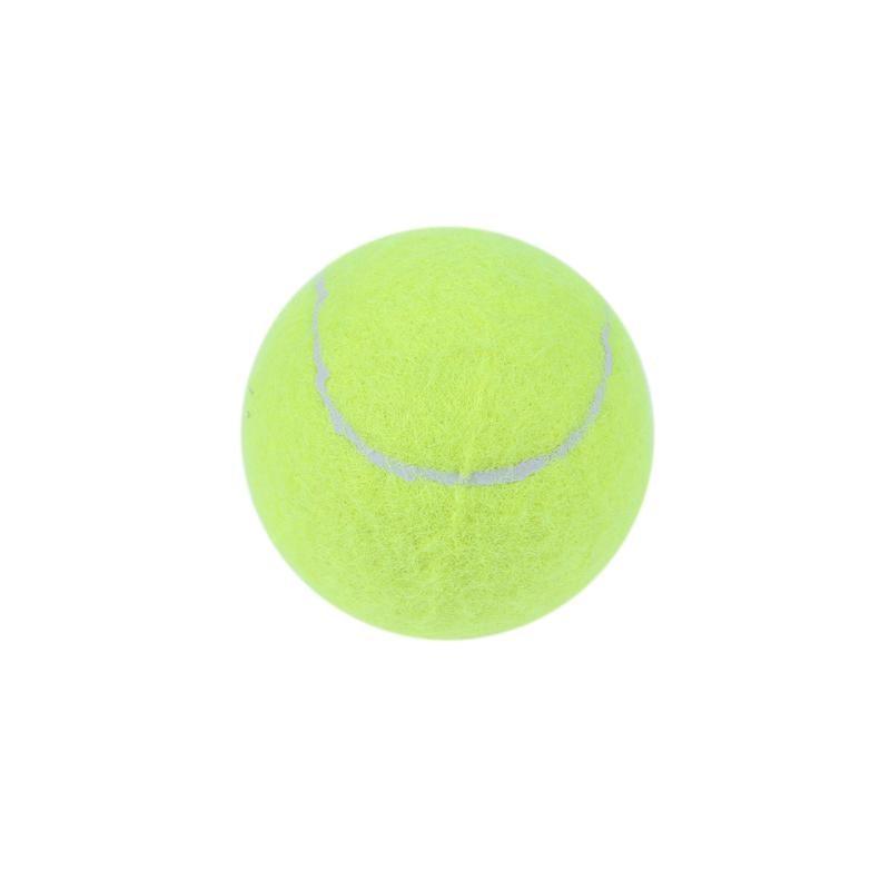 1PCS Durable Tennis Balls Chemical Fiber Rubber Outdoor Sports Standard Size Elastic Training Special Good Bounce 7cm Diameter