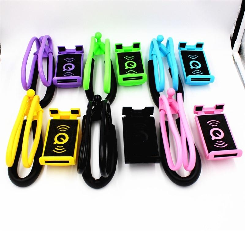 LeadingStar Funny Toy Flexible Lazy Hanging on Neck Phone Holder 360 Rotating Bracket for mobile Phone Girls Boys Gift choyo 2227 m4 double clip lazy desktop flexible neck clip holder for mp4 mobil phone pda psp