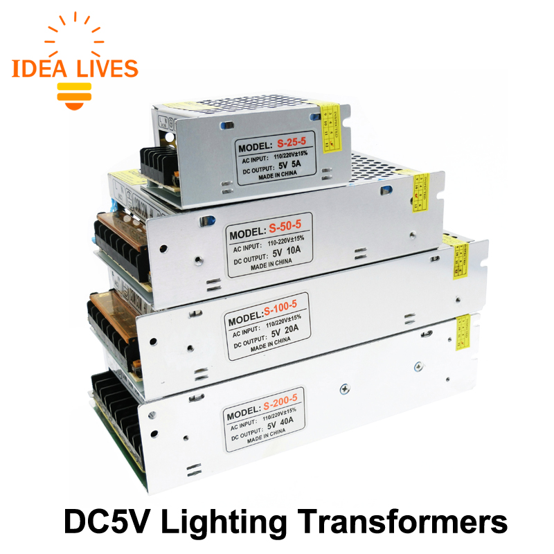 Lighting Transformers Dc5v Power Supply 50w 100w 200w 300w