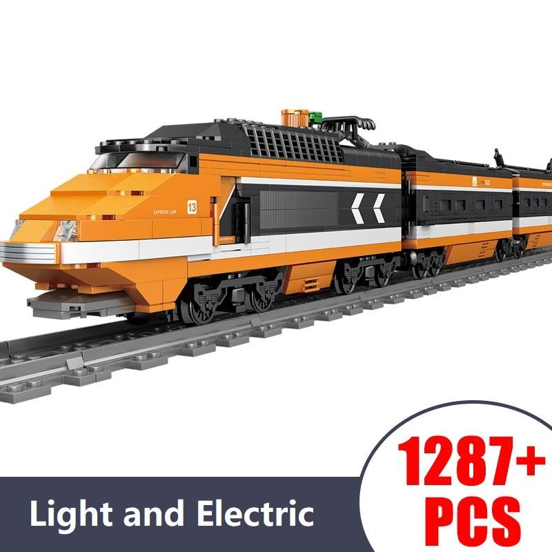 Technic électrique moteur lumière train piste voiture modèle briques Compatible Legoe blocs de construction jouets pour enfants cadeau 1287 pièces