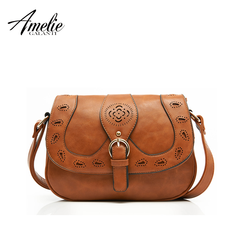 AMELIE GALANTI hot 2017 hot crossbody bag Hollow Out casual Fashion solid PU sho