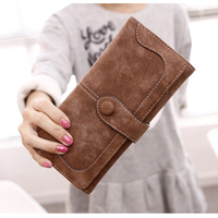 Vintage Style Wallet For Women Large Capacity Card Holder Phone Clutch Purse Lady Zipper Coin Pocket