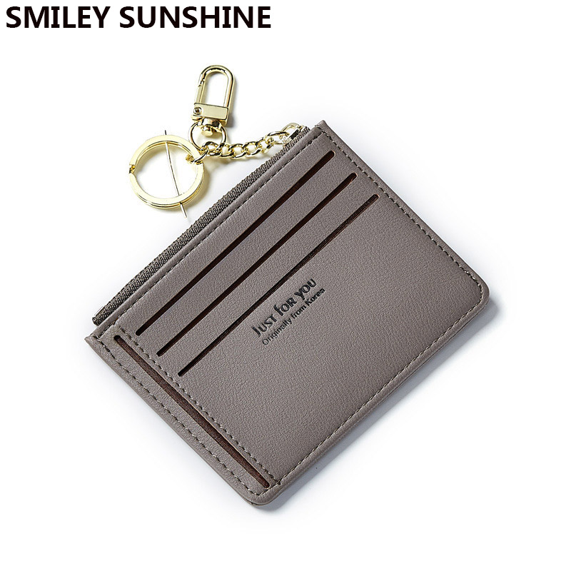 SMILEY SUNSHINE Thin Leather Mini Slim Women Wallets And Purses Female Small Card Coin Wallet Short Ladies Purse Money Bag 2019