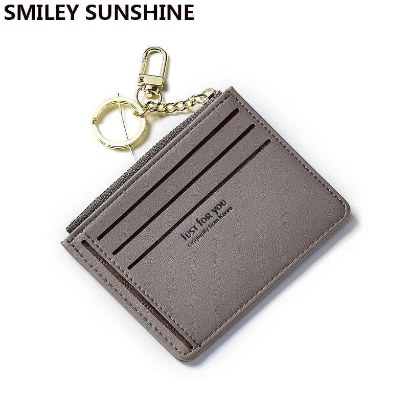 Smiley Sunshine, мягкие кожаные мини-тонкие женские кошельки и кошельки, женский маленький кошелек для монет, короткий женский кошелек 2018