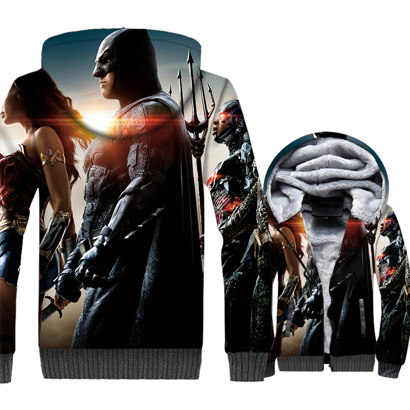 The Flash 3D printing tracksuit fitness 2019 winter casual wool liner jackets coat men hip-hop sweatshirt man Super hero hoodies
