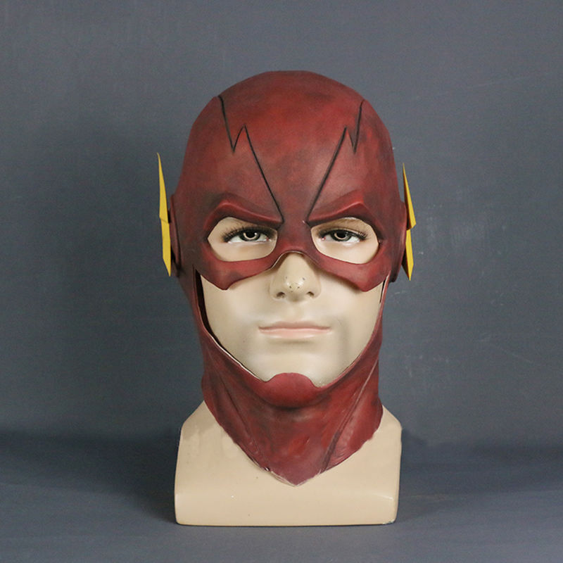 Die Maske DC Barry Allen Maske Cosplay Prop Halloween Rot Vollen Kopf Latex Partei Masken Erwachsene