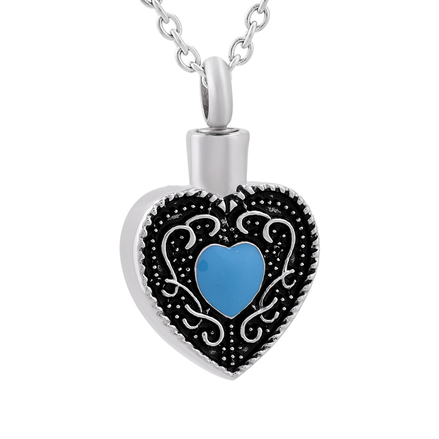 Women stainless steel beautiful blue zircon never fade cremation women stainless steel beautiful blue zircon never fade cremation jewelry for ashes pendant necklace funeral urns mozeypictures Choice Image