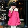 Outono e Inverno Em Crianças Meninas Coreano Novo Casaco de Lã Crianças Roupas 2 Cor