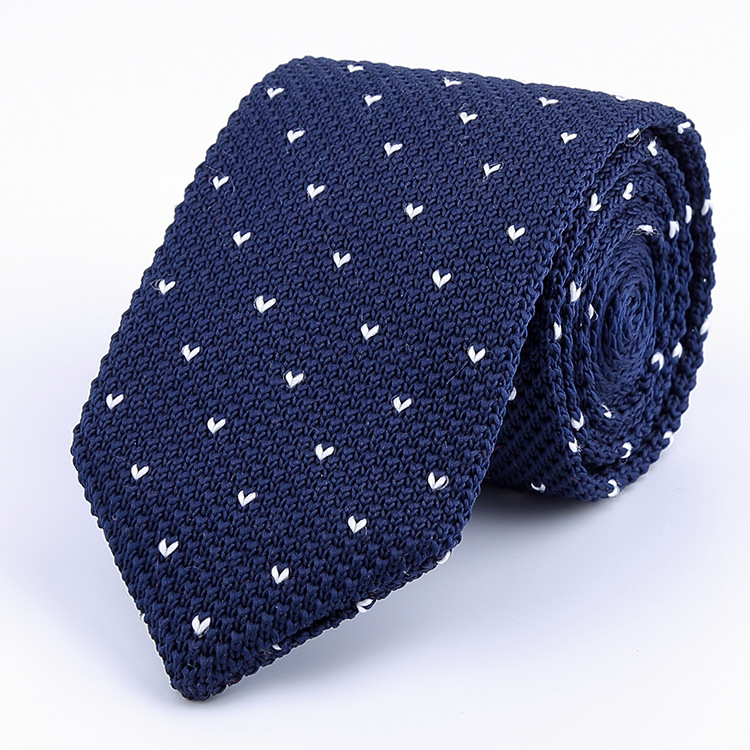 Men's Knitted Tie Leisure Triangle Striped Neckties For Man Woven Tie New British Style Skinny Cravate For Party Knitting Ties
