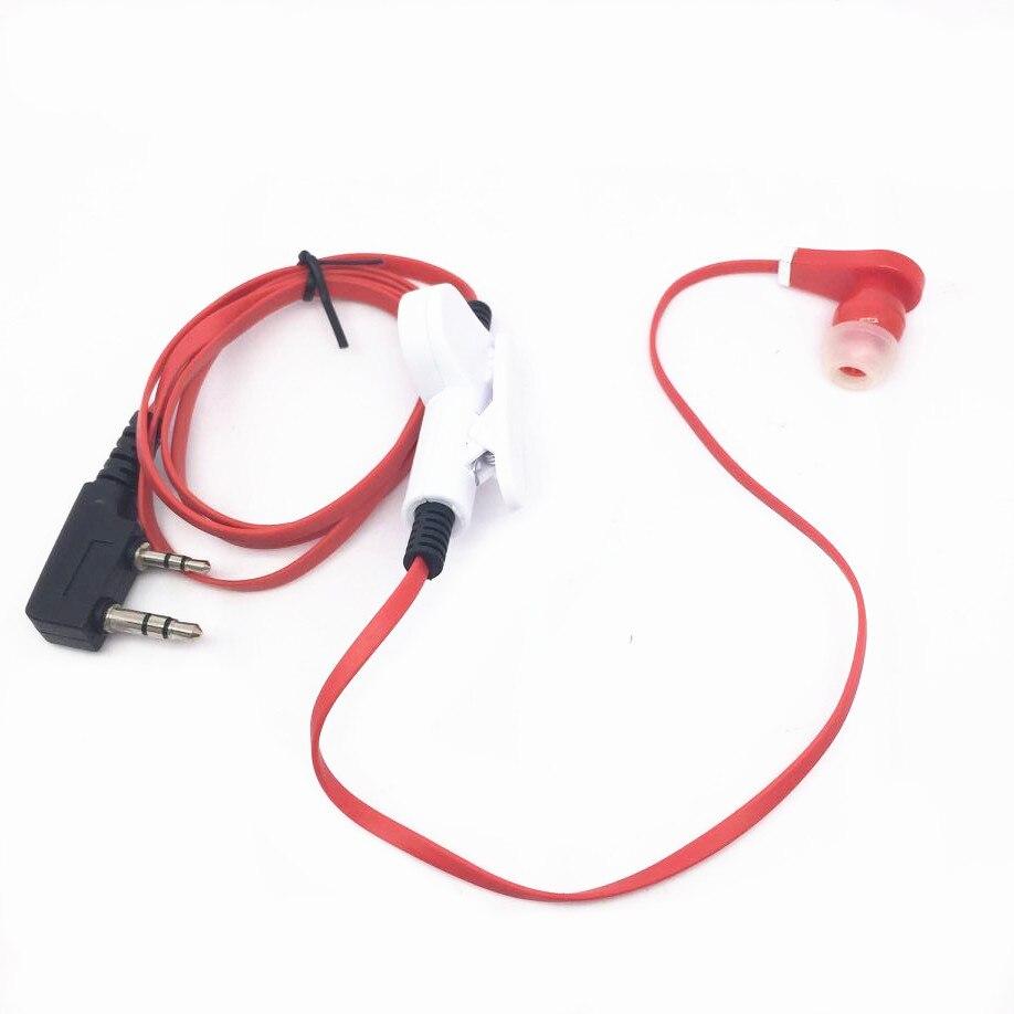 Red Spaghetti Headphones For  Baofeng UV5R, UV5RA, UV5RB, UV5RC, UV5RD, UV5RE, UV5REPlus, Uv5R +, UV5RO Radios