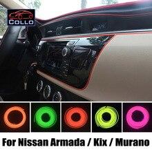 Новейшие DIY EL Провода Для Nissan Armada/Patrol Y62/Kix/Murano/Украшение Автомобиля Холодный Свет Лампы Атмосфера/9 М Набор