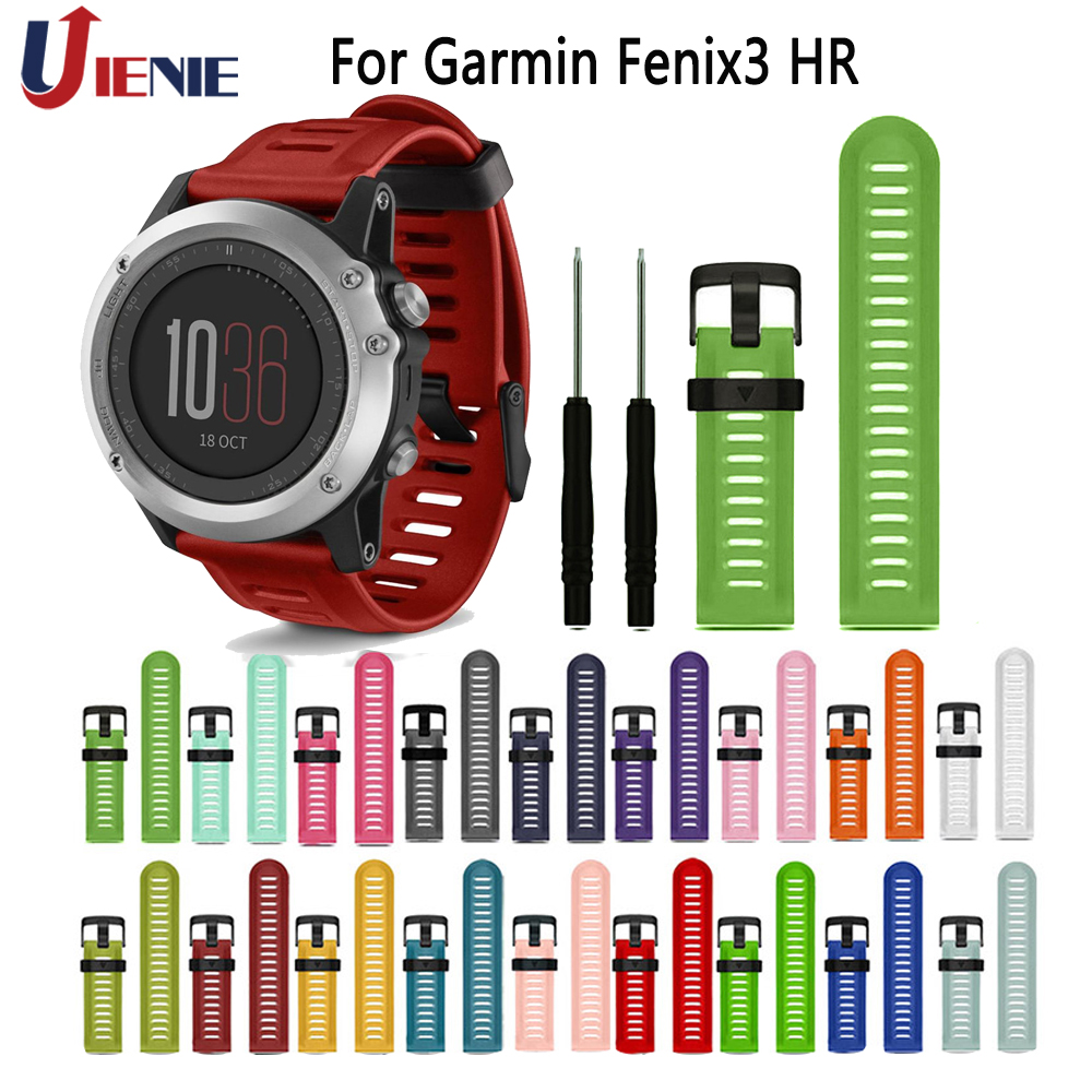 26mm Silicone Strap Watchband For Garmin Fenix 3 HR /5X Plus/6X /3 Sapphire Smart Bracelet Band Sport Replacement Wristband