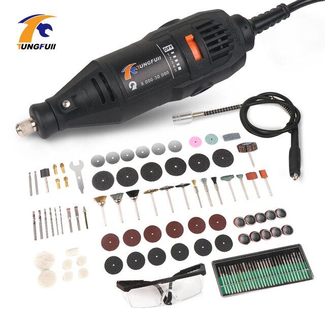 Dremel Electric Mini Drill Accessories Diy Electric Drill 220V Power Tools Dremel Rotary Tools Grinding Machine 361pcs Accessory