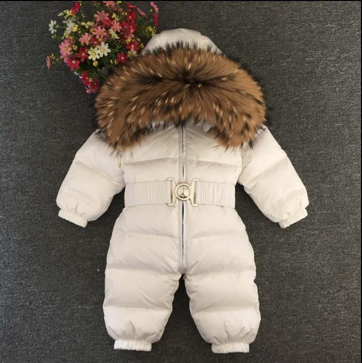-30 degrees baby Winter jumpsuit baby winter snowsuit Baby jumpsuit Down Jackets warm overall down coats boys girl Kids clothes 2017girl down jackets coats for winter warm baby girl down outerwear