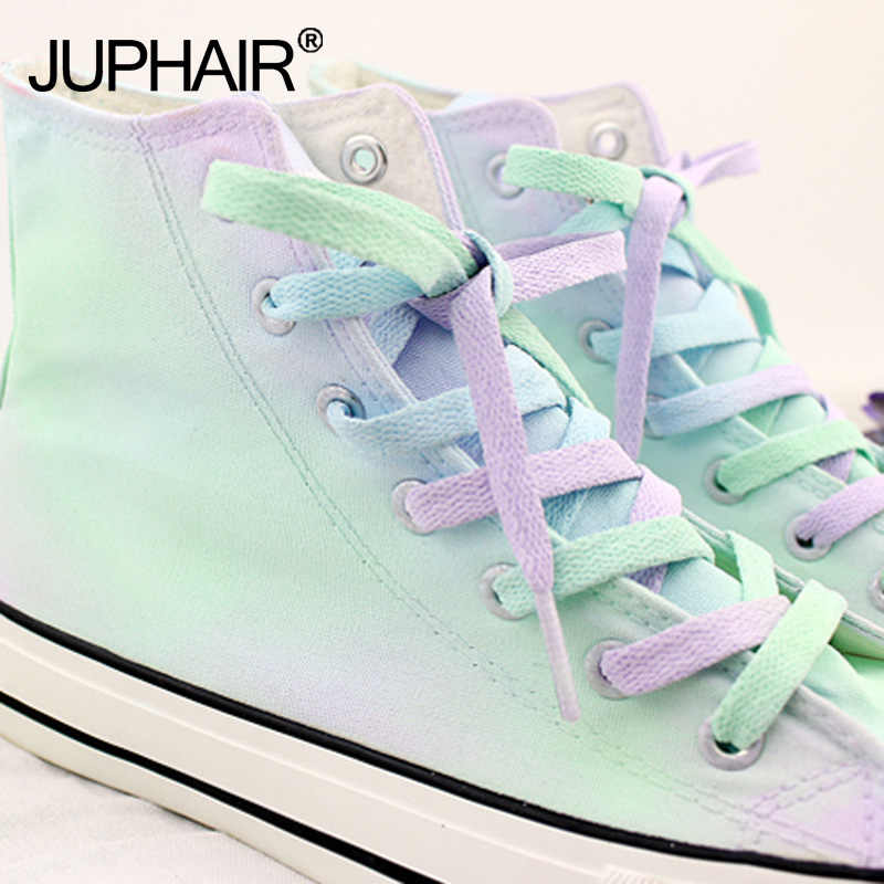 e92aac057fa5 N 1 Pair With Canvas Shoes Shoelace Accessories Candy Color Laces With  Color Hand-dyed