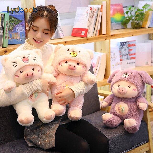 30/60cm kawaii pig stuffe plush doll cosplay cat&bear&dog toy baby soft animal pig pillow children girl birthday christmas gift
