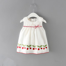 Baby Girls Clothes New Summer Baby Dresses Cherries Embroidery Baby Dresses Newborn Girls Party Princess Dress 0 2Y