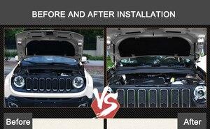 Image 3 - Крышка капота для Jeep Renegade 2016, 2017, 2018, 2019, стойка гидравлического стержня, телескопическая штанга, капот двигателя, поддержка подъема, автомобильные аксессуары