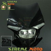 Universal LED Headlights Headlamp Street Fighter For CRF CR XR KTM YZ WR KX KLX RM