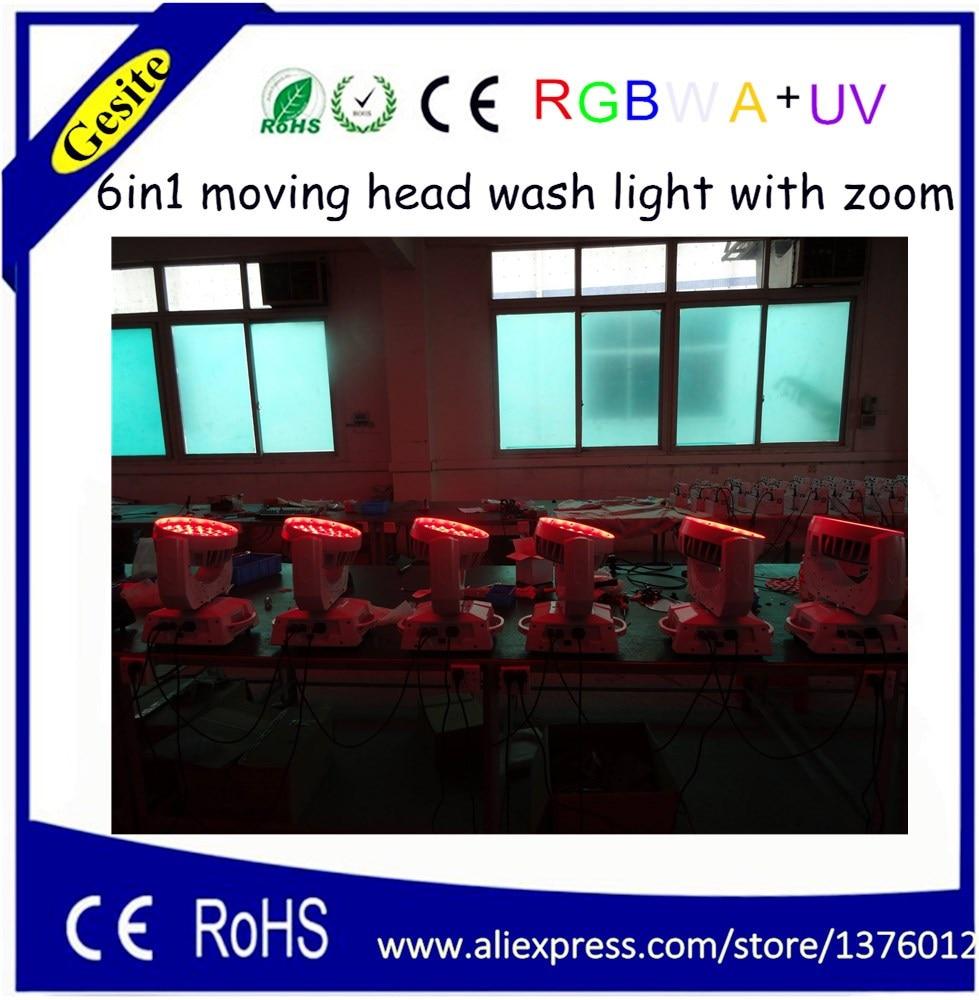 AC 100-240V Quad-color 36 * 18W RGBWA UV 6-u-1 LED pokretno glavno - Komercijalna rasvjeta - Foto 4