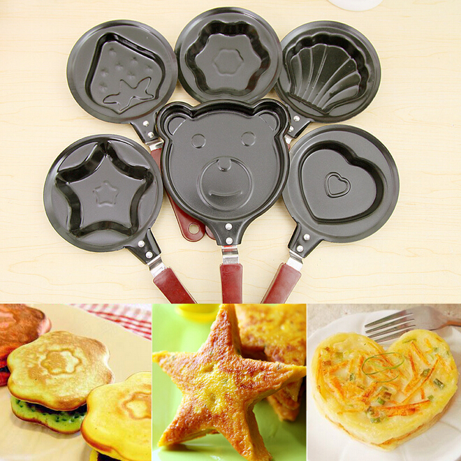 Breakfast omelette pan device pancake Egg Fryer Skillet Mini Fry Frying Pan(no lids) Cookware Non-Stick ss493