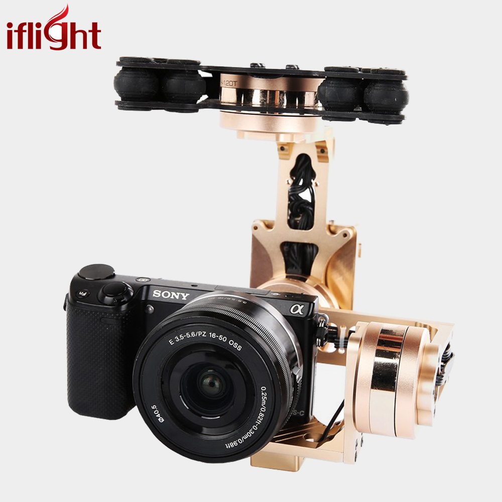 iFlight G40 3-Axles Aerial Gimbal w/ 32 Bit AlexMos Controller for Sony NEX5 RX-100 BMPCC FPV Aerial Photography Ready to Use