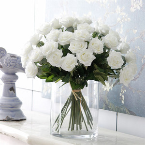Image 2 - 25pcs/lot New Artificial Flowers Rose Peony Flower Home Decoration Wedding Bridal Bouquet Flower High Quality 9 Colors