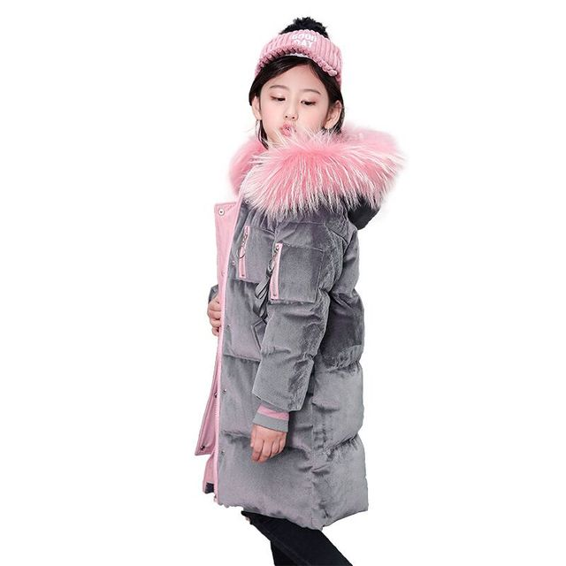 596d24b6d Cold Winter Girls Warm Clothes 8 16year Infant Coat 2018 Kids ...