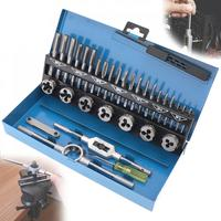 32pcs/Set HSS Metric Tap & Die Set M3 M12 1st 2nd & Plug Finishing for Professional Metalworking