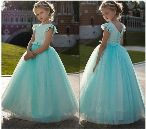 Vintage Princess   Dress   with Lace Best   Flower     Girl     Dress   For Kids Party Lace Up Back Pageant Gowns For Cute   Girl   Robe De Soiree