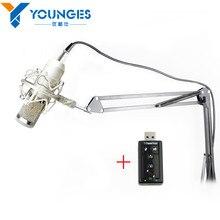 Professional BM-800 BM 800 Condenser KTV Microphone Cardioid Pro Audio Studio Vocal Recording Mic KTV Karaoke+ Metal Shock Mount